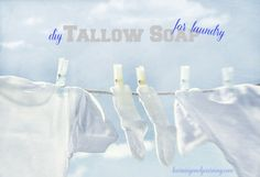 DIY Tallow Soap for Laundry: Tallow soap is a traditional soap used for laundry. In this post, you'll learn to make it yourself!
