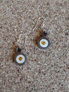Paper Quilled Earrings Filagree Brown Beige by RebasCraftCorner