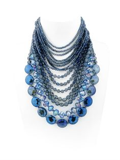 CRYSTALS MULTI STRAND NECKLACE