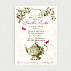 Blue China Tea  Blue China Party Invitation Templates And Tea