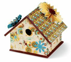 Paper covered birdhouse