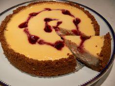 Lacitrom konyha: Sajttorta házi görög joghurtból házi Spéculoos keksszel Tart, Cheesecake, Food And Drink, Pudding, Cookies, Desserts, Kitchen, Crack Crackers, Tailgate Desserts