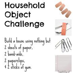 Household object challenge to make kids THINK. See more here: http://imaginationsoup.net/2011/07/household-object-challenges/