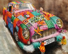 http://www.veracauwenberghs.com The name's Bombed, Yarn Bombed Oil on linen 80x100cm