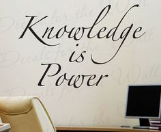 Knowledge Power Office Inspirational Motivational quote
