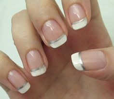 A lovely twist on the French manicure!