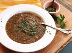 An easy lentil soup is packed with flavor thanks to a dual-use mixture of parsley, garlic, and lemon zest that gets added both before and after cooking.