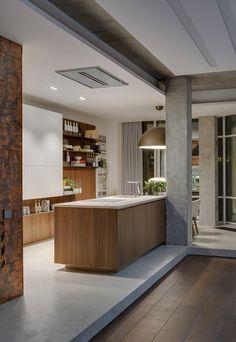Mezcla de materiales y diseño - cocina