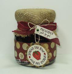 Homemade Preserves Gift. Such a cute idea.