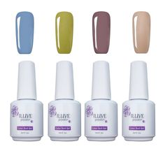 iLuve Long Lasting Soak Off UV Nail Polish, 4 Bottles(60ml) Bright Side Set Including: 1x Color-1534,1x Color-1435,1x Color-1579,1xColor-1413 with 238 Other Colors Available -- You can get additional details at the image link.
