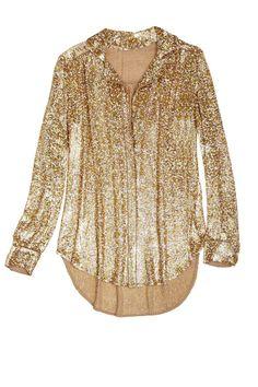 Umbra Sequined Shirt @Kristen Kyslinger St. Barth