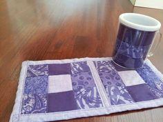 Mug rug with matching mug.