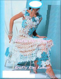 Stunning Irish Crochet lace Summer Fancy Dress - Made to Order