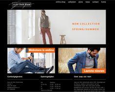 Website voor Joep van Ham herenmode.  http://www.joepvanham.nl