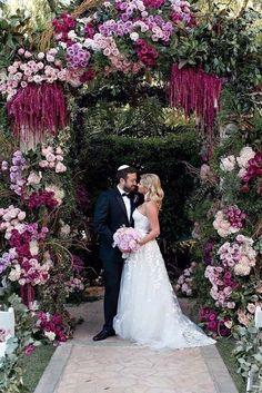 Ashlee simpson wedding houghton dress mcqueen shoes love her 21 chic wedding flower decor ideas junglespirit Choice Image