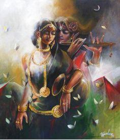 Krishna Art by indian artist ujjwal