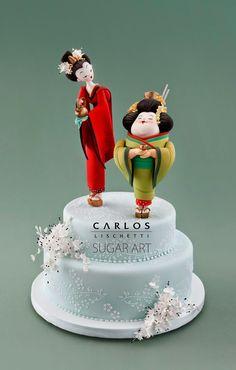 Thin & Chubby Geisha's Cake Topper | by Carlos Lischetti Sugar Art