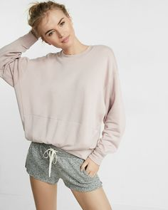 Your favorite soft plush jersey fabric is now available in a drawstring short that's perfect for lounging. Wear it on those stay-home-and-stream-movies-all-day kinds of days.