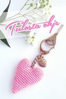 Virkkaus | Tuulia design. Iloa & Ideaa askarteluun ja käsitöihin! Hobbies And Crafts, Valentines Day, Crochet Patterns, Miniatures, Personalized Items, Haku, Knitting, Tutorials, Diy