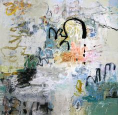 Leslie Allen Unravel an abstract oil painting at Seager Gray Gallery in Mill Valley California in the San Francisco Bay Area.