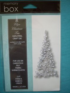 ** Memory Box *Elyse Christmas Tree* Die - Compatible with Cuttlebug & Sizzix **