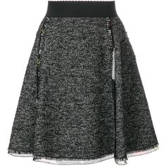 Dolce & Gabbana tweed skirt (£765) ❤ liked on Polyvore featuring skirts, black, elastic waist a line skirt, tweed a line skirt, dolce gabbana skirt, short tweed skirt and tweed skirt