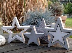 2 x Betongießform für einen hohlen Stern 30 cm