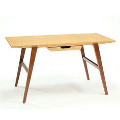 super cute desk with dark legs