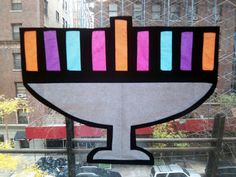 Jewish Crafts for Kids: Stained Glass Hanukkah Menorahs at Upper West Side Mom Hanukkah For Kids, Hanukkah Crafts, Jewish Crafts, How To Celebrate Hanukkah, Hanukkah Menorah, Holiday Crafts For Kids, Christmas Hanukkah, Happy Hanukkah, Hannukah