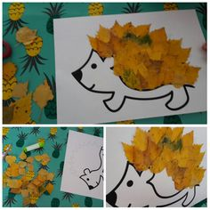 autumn hedgehog from 2 years (but put leaves in any Halloween Crafts For Kids, Diy Crafts For Kids, Fall Halloween, Arts And Crafts, Autumn Activities, Activities For Kids, Art Books For Kids, Bricolage Halloween, Fall Art Projects