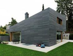 Fassadenverkleidung aus Beton / gestrichen / Lamellen / Holzoptik ANTHRACITE & IVORY Rieder Smart Elements GmbH