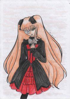 Rozen Maiden Kirakishou lolita dress draw art work pencil
