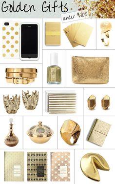 Golden Gifts. Great birthday ideas!!!