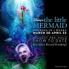 OPENING IN JUST 2 WEEKS - DISNEY'S THE LITTLE MERMAID! Get your tickets today for the HIGHEST PRE-SOLD SHOW in Playhouse history! Be a part of this magical record breaking production! #spMERMAID #RecordBreaking