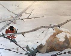 Robin, Keys, Contrast, Original Art, It Is Finished, Watercolor, Ink, Artist, Painting