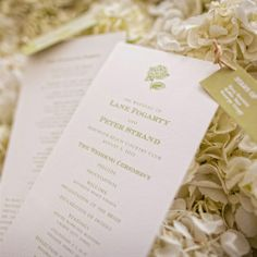 White and Gold Programs | Jordan Brian Photography | TheKnot.com