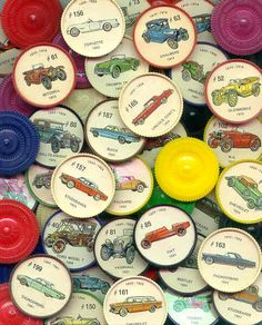 Jello Collectable Coins / Wheels  (Cars & Airplanes)  Full Set is made up of 200 different wheels.