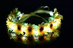 Cute Daisy LED Light Up Flower Crown/Floral by LUMiLtd on Etsy