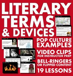 45 terms packed into 19 mini-lectures – a full semester of lectures prepped and ready to go! #highschoolEnglish