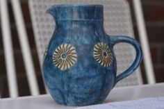 Heinz Theo Dietz Design Keramik Krug / Vase  WGP  studiopottery Midcentury 60s
