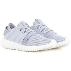 Adidas Originals Tubular Viral Sneakers (500 RON) ❤ liked on Polyvore featuring shoes, sneakers, grey, adidas footwear, gray shoes, grey sneakers, adidas shoes and grey shoes