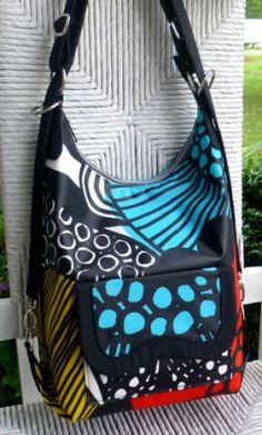 Cosmo Convertible Bag. Shoulder bag, backpack & cross body bag all in one. Free pattern and full tutorial.