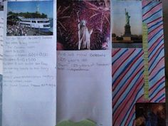 A 6th grade ELL example of our Statue of Liberty travel brochure project.  She has made great strides this year!