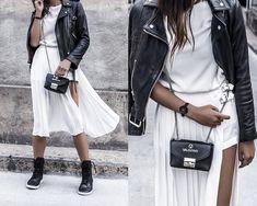 Kristina - moc sneakers, pleat skort