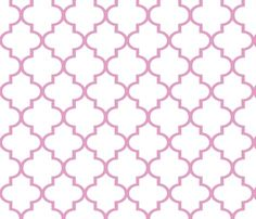 Pink Quatrefoil Fabric By Sparrowsong On Spoonflower