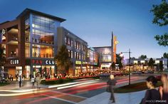 Rendering for Omaha Mixed-Use Development Completed: