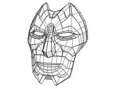 League of Legends - Jhin's Mask Free Papercraft Download - http://www.papercraftsquare.com/league-of-legends-jhins-mask-free-papercraft-download.html#Jhin, #LeagueOfLegends, #Mask