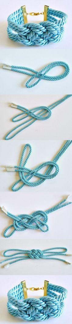 DIY Knotted Stylish Cord Bracelet   www.FabArtDIY.com LIKE Us on Facebook ==> https://www.facebook.com/FabArtDIY