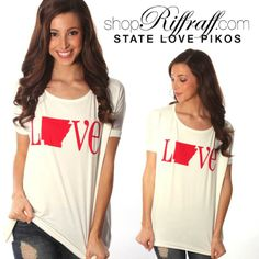Pikos now printed with our favorite Arkansas graphics, both comfy and cute. The perfect way to show your state pride!