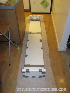 diy pelmet box- seriously? Styrofoam and Duct Tape? Ingenious!!